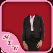 Business Woman Photo Suit icon