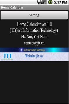 Home Calendar screenshot 1
