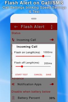 Flash Alert On Call/SMS screenshot 1