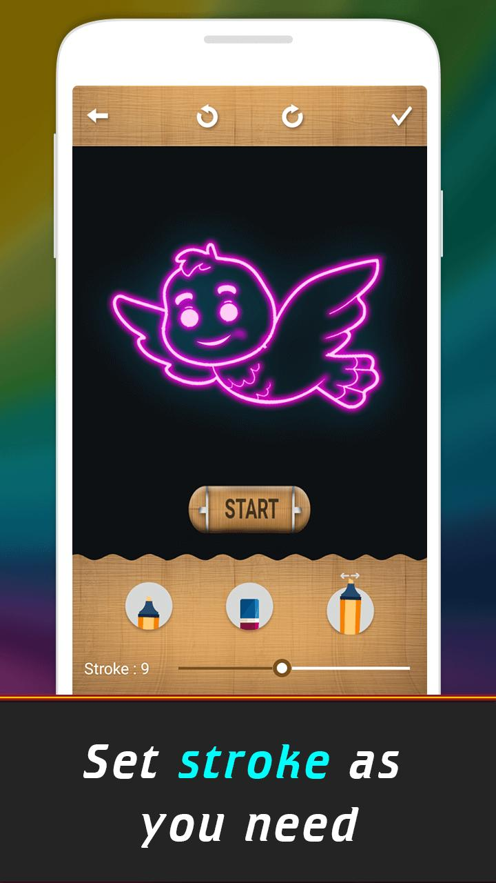 Glow Drawing Birds poster