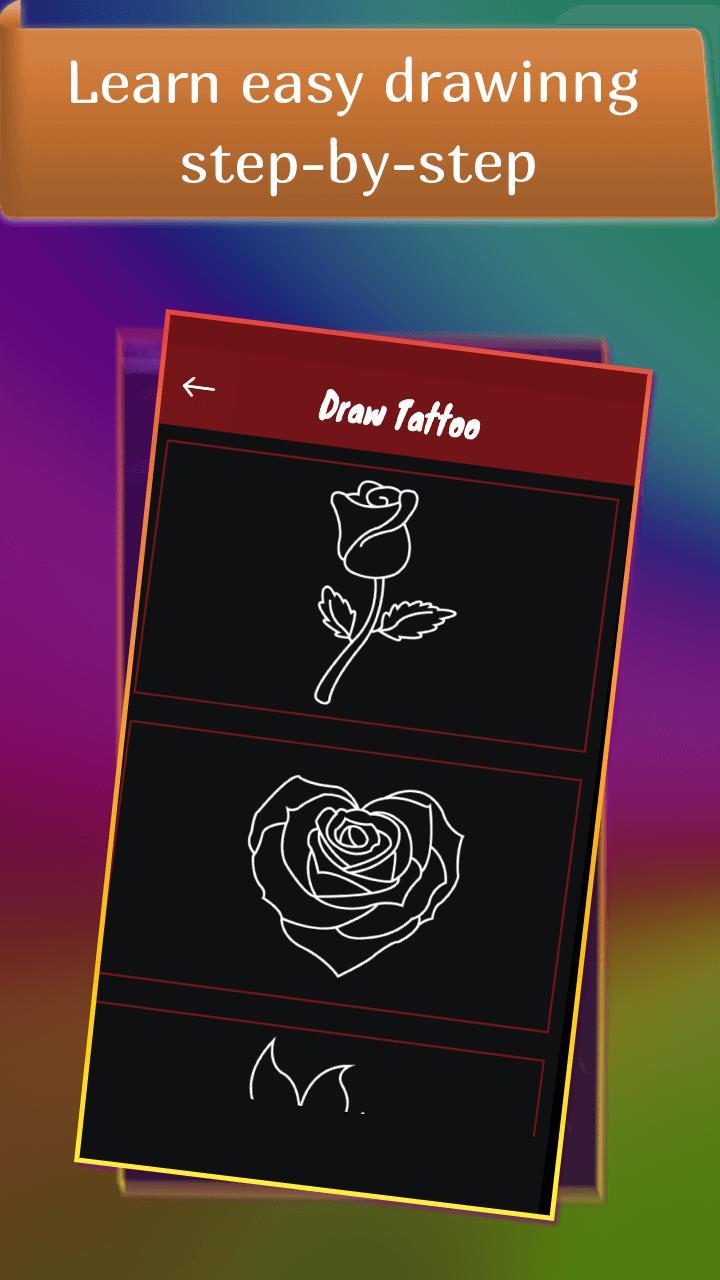 Glow Drawing Tattoo poster