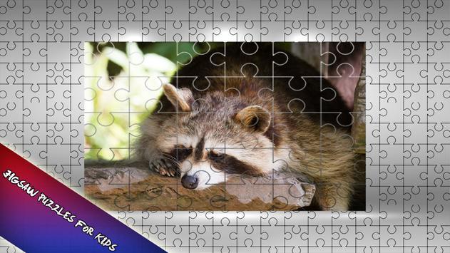 Raccoon Jigsaw Puzzle for Kids apk screenshot