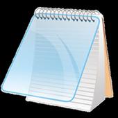 bloco de notas ícone