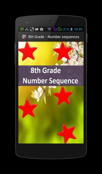 8th Grade - Number Sequence poster