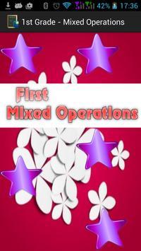1st Grade - Mixed Operations apk screenshot