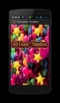 3rd Grade - Numbers poster