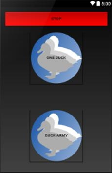 Duck Army sound poster