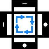 Screen rotation control icon