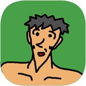 [放置ゲーム]アゴ尖り修造の探検 icon
