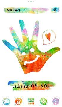 Holi Theme Colorful Hand poster