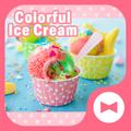 Cute Wallpaper Colorful Ice Cream Theme