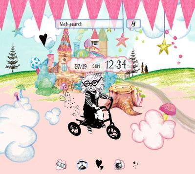 Cute Theme-Cat in Wonderland- poster