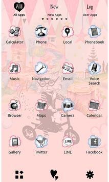 Cute Theme-Cat in Wonderland- apk screenshot