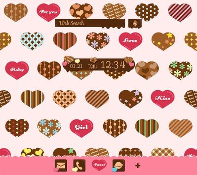 Chocolate Hearts Wallpaper poster