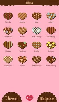 Chocolate Hearts Wallpaper apk screenshot