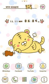 Animal Wallpaper Cute Tiger Theme screenshot 4