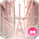 Theme Rain at the Eiffel Tower APK