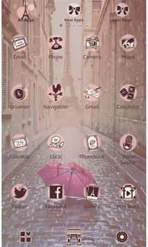Theme Rain at the Eiffel Tower screenshot 2