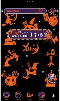 Alice in Halloween Land Theme poster