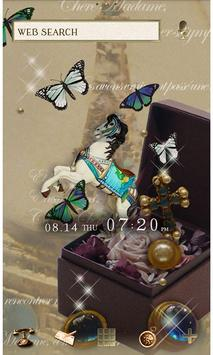 Butterflies Theme-Antique Box- poster