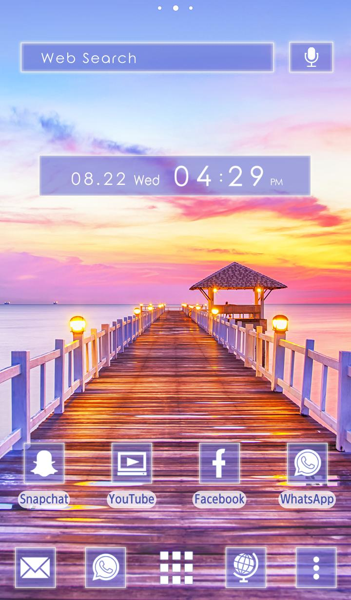 Beautiful Wallpaper Sunset Wharf Theme For Android Apk