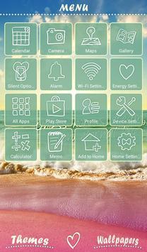 Wallpaper Tema Beachside Story captura de pantalla 1