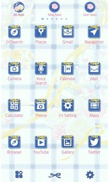 Flower Theme-Blue Gingham- screenshot 1