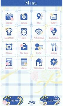 Flower Theme-Blue Gingham- screenshot 2
