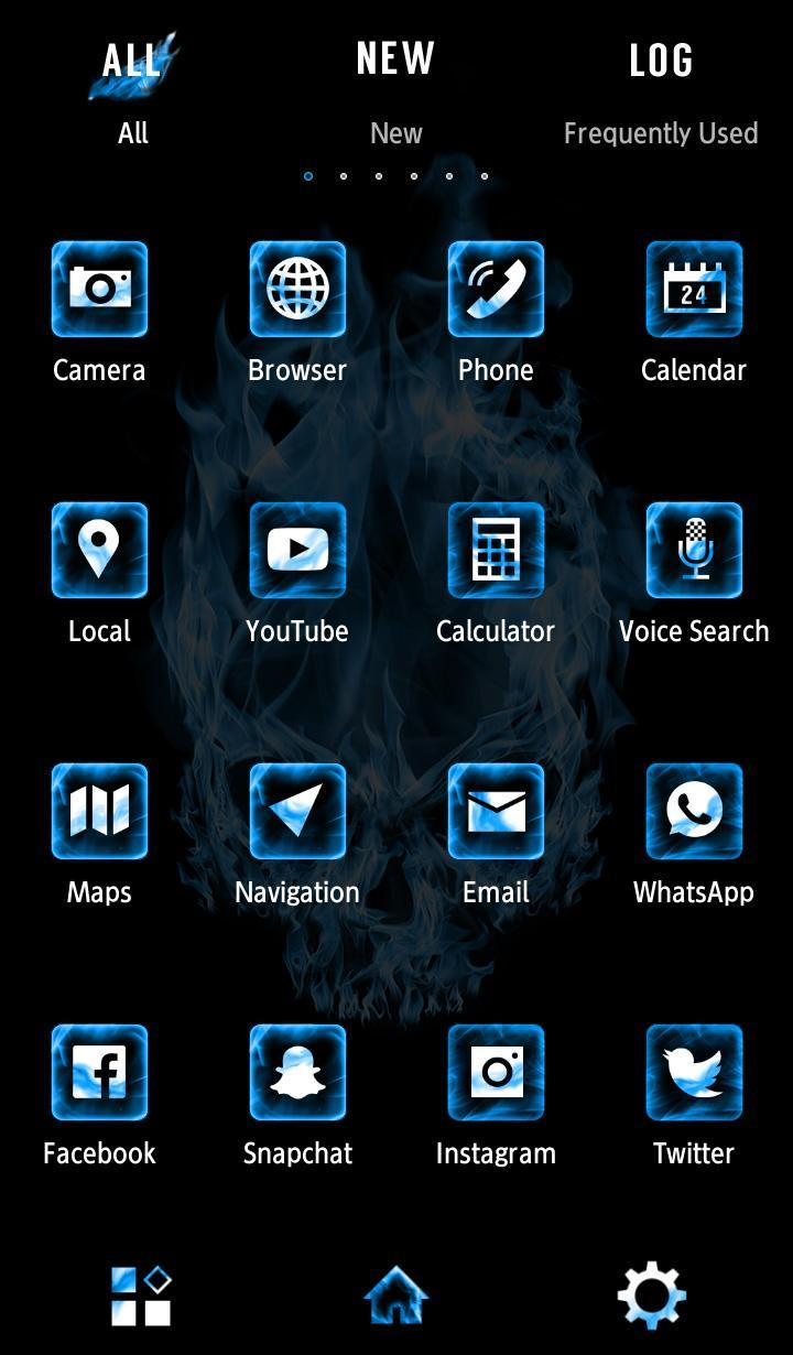 Cool Wallpaper Blue Flame Skull Theme For Android Apk Download