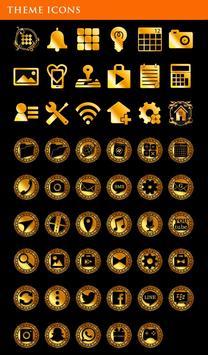 Gold Wallpaper Gothic Butterflies Theme apk screenshot
