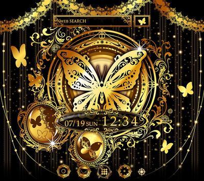 Gold Wallpaper Gothic Butterflies Theme poster
