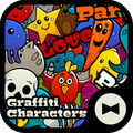 Pop Wallpaper Graffiti Characters Theme