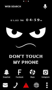 Wallpaper Don't Touch My Phone poster
