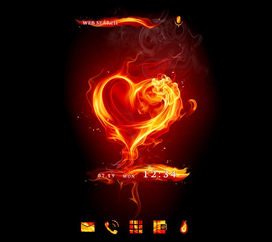 Stylish Wallpaper Fire Love Theme For