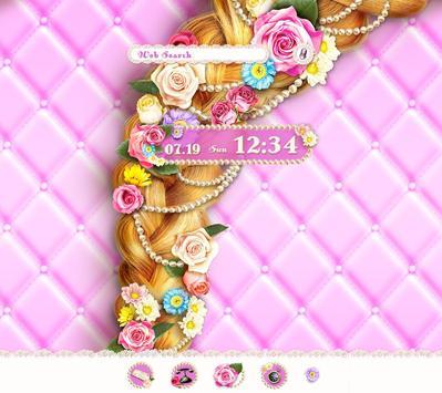 Cute Theme-Flowery Princess- poster