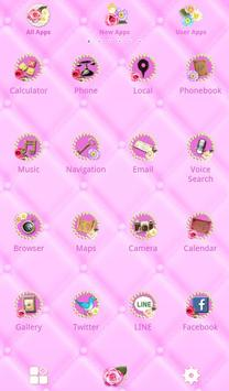 Cute Theme-Flowery Princess- apk screenshot