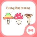 Cute Wallpaper Funny Mushrooms Theme
