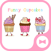 Wallpaper Funny Cupcakes Theme icon