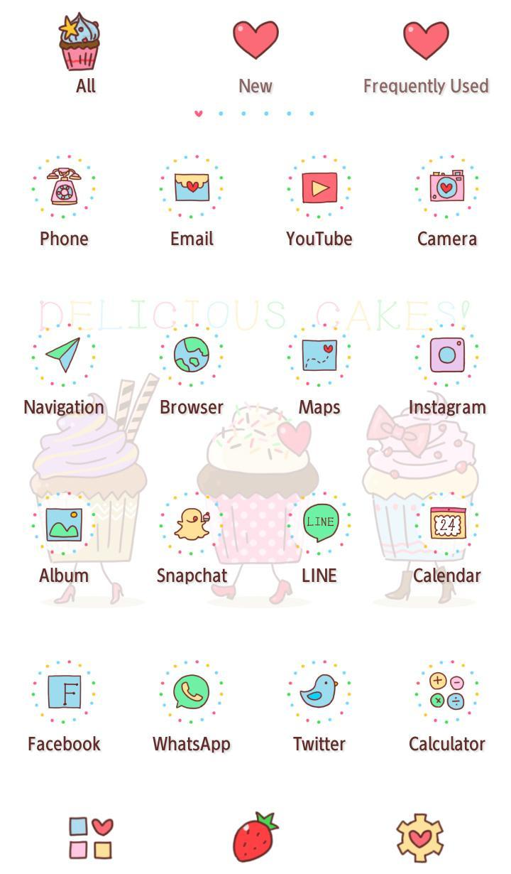 Wallpaper Funny Cupcakes Theme poster