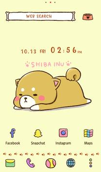 خلفيات وأيقونات Cute Mini-Shiba الملصق