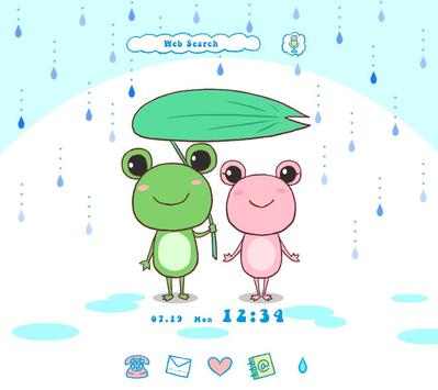 Cute Wallpaper Frog Couple poster
