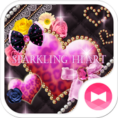 ★FREE THEMES★Sparkling Heart أيقونة