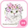 Cute Wallpaper Flower Crowned Cat Theme