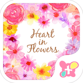 Heart in Flowers +HOME Theme icon