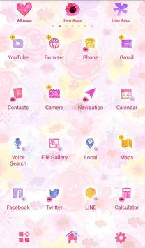 Heart in Flowers +HOME Theme apk screenshot