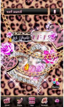 Leopard Hearts Wallpaper Theme poster