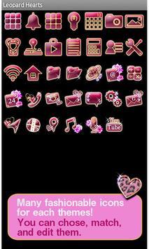 Leopard Hearts Wallpaper Theme apk screenshot