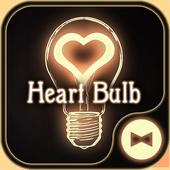 Cute Wallpaper Heart Bulb Theme icon