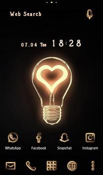 Cute Wallpaper Heart Bulb Theme poster