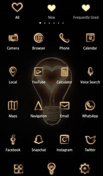 Cute Wallpaper Heart Bulb Theme screenshot 2